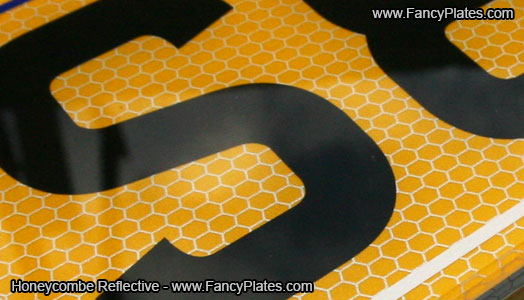 Honeycombe reflective Number Plates