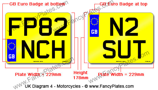 Uk Motorcycle Plates Diagram