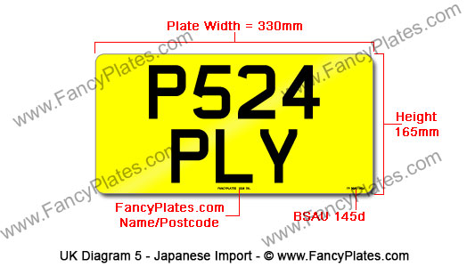 UK Jananese Import Number Plates