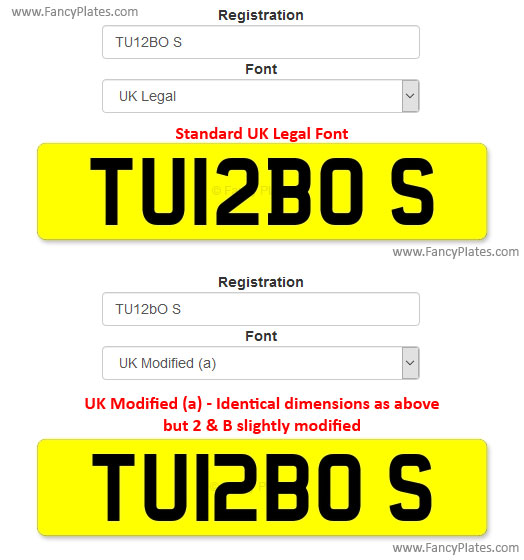 uk modified font